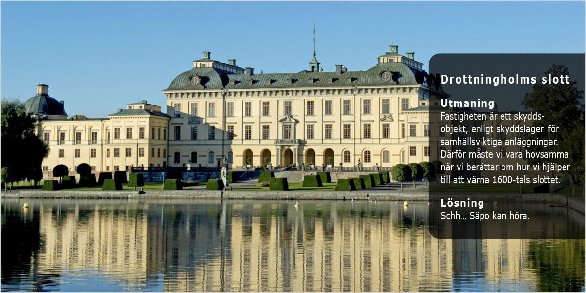 Drottningholms slott kund hos FinlarmGruppen